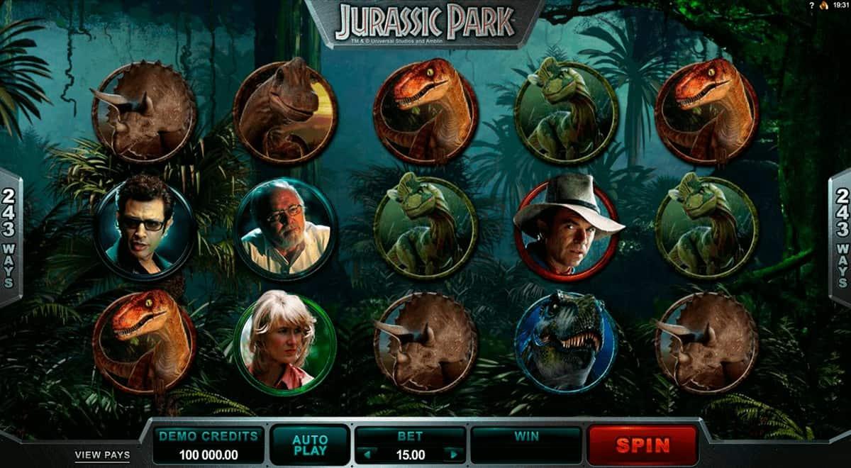 Jurassic Park filma spele